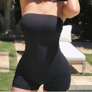 Fashion Nova Cute Black Romper